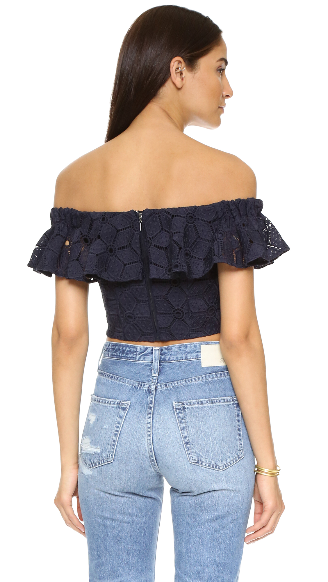 5695dfbe8f66a Rebecca Taylor Off Shoulder Dia Lace Blouse