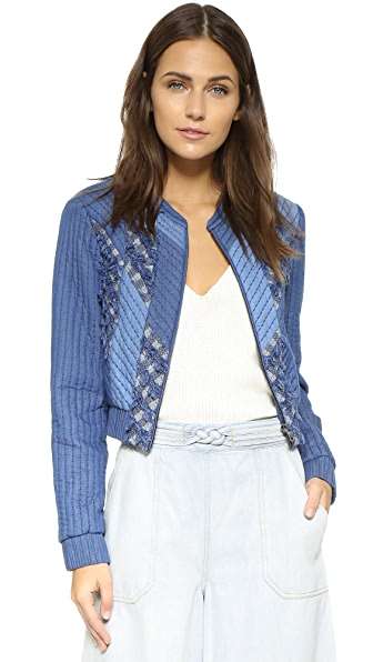 Rebecca Taylor Patch Chambray Jacket