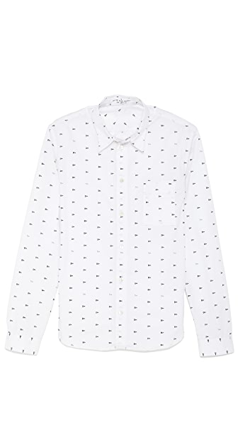 Paul Smith Red Ear Novel Print Slim Fit Shirt