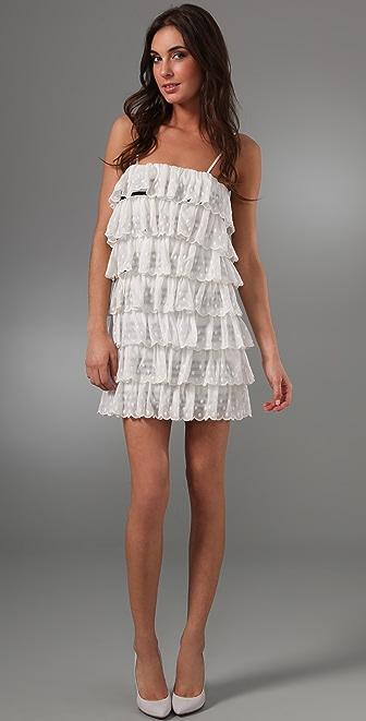 RED Valentino Tiered Ruffle Dress