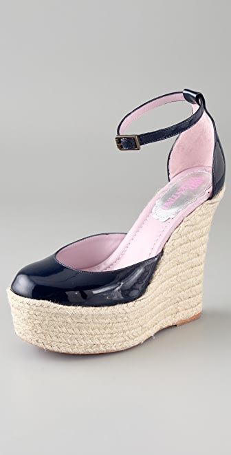 RED Valentino Espadrille Wedge Sandals