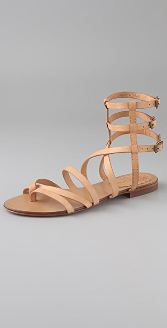 RED Valentino Flat Thong Gladiator Sandals