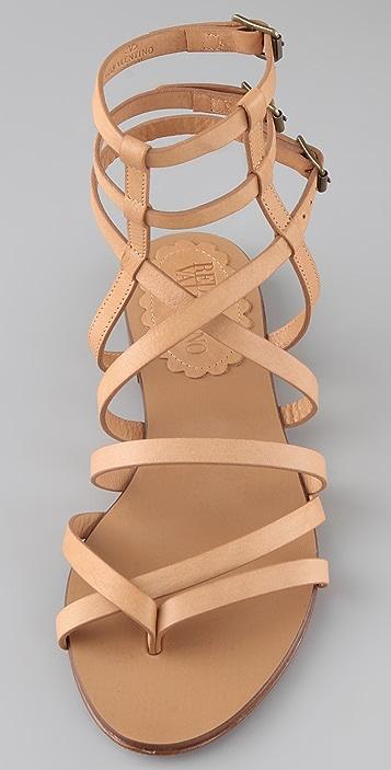 RED Valentino Flat Thong Gladiator Sandals