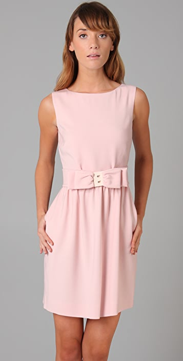 RED Valentino Sleeveless Dress with Bow