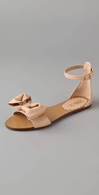 RED Valentino Bow Flat Sandals