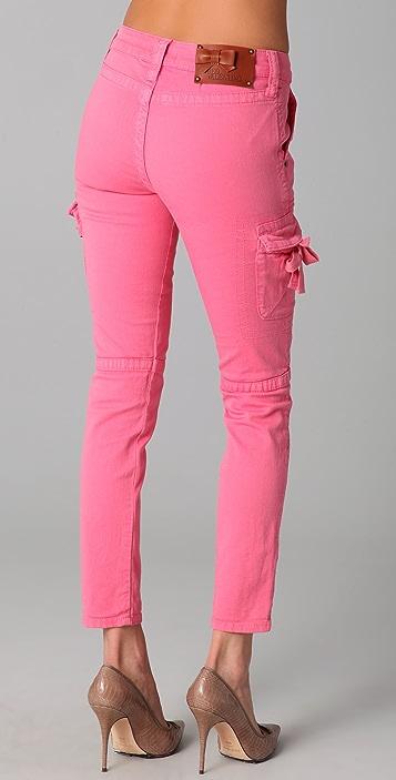 RED Valentino Skinny Cargo Jeans