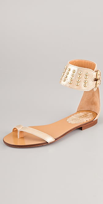 RED Valentino Studded Flat Sandals