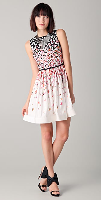 RED Valentino Sleeveless Floral Dress