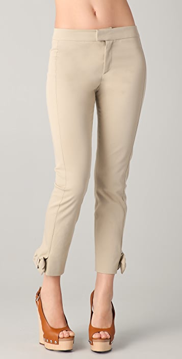 RED Valentino Gab Pants with Bows