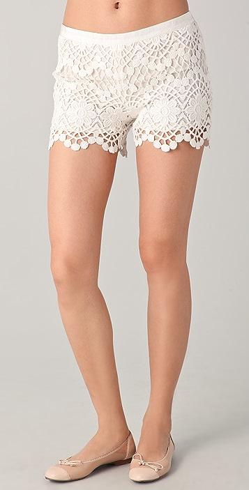 RED Valentino Crochet Shorts