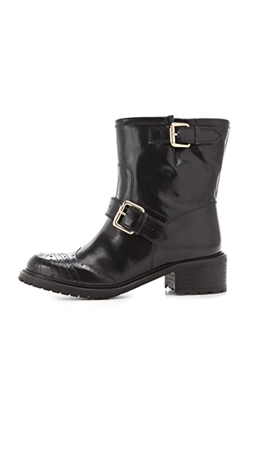 RED Valentino Flat Engineer Boots
