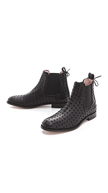 RED Valentino Gored Flat Booties