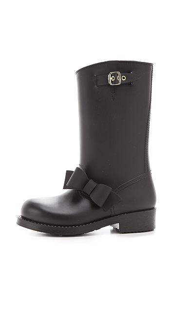 RED Valentino Bow Rain Boots