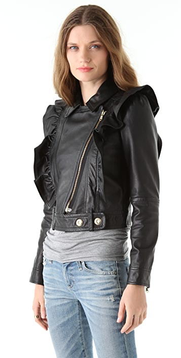 RED Valentino Nappa Leather Jacket