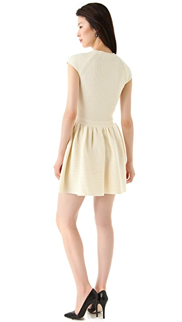 RED Valentino Short Sleeve Sweater Dress