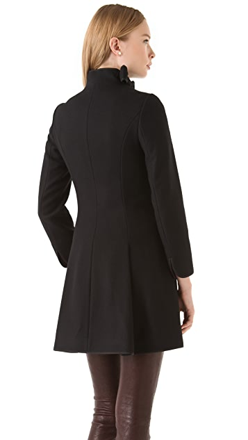 RED Valentino Bow Collar Long Coat