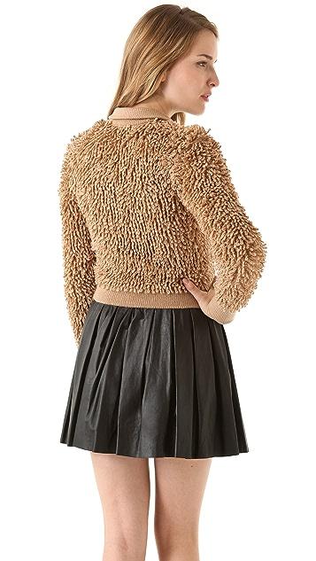 RED Valentino Loop Stitch Wool Cardigan