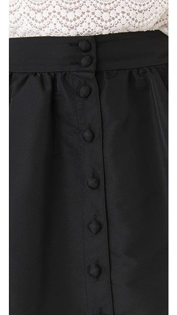 RED Valentino Faille Miniskirt