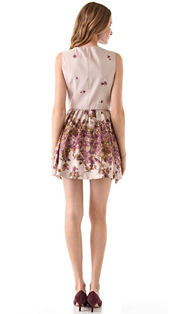 RED Valentino Flower Print Faille Dress