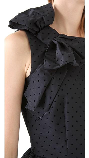 RED Valentino Polka Dot Dress w/ Bow Detail