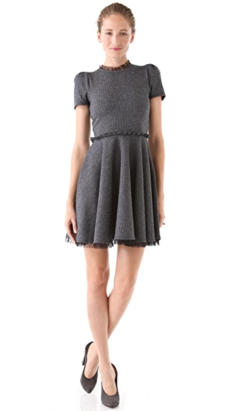 RED Valentino Tie Neck Sweater Dress