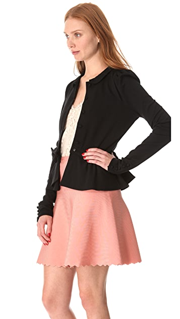 RED Valentino Thick Stitch Bow Cardigan