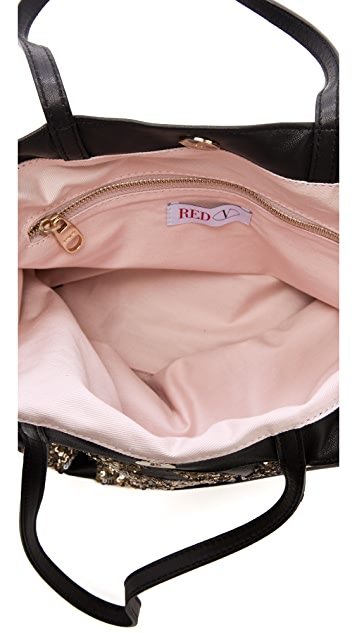 RED Valentino Sequined Shoulder Bag