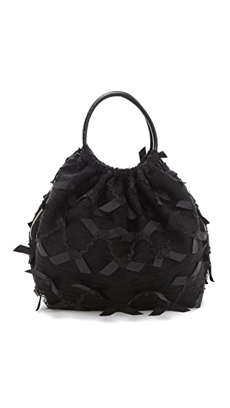 RED Valentino Lace Top Handle Bag