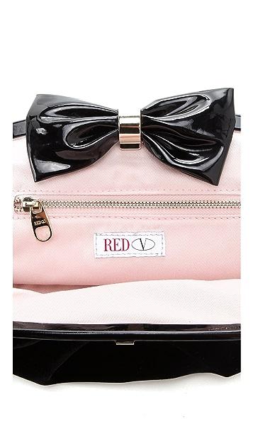 RED Valentino Oversized Velvet Clutch