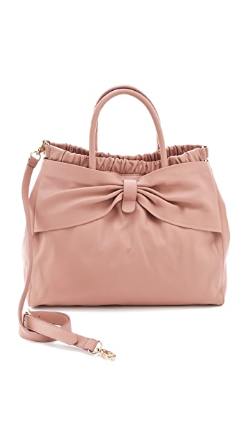 RED Valentino Calfskin Bow Satchel