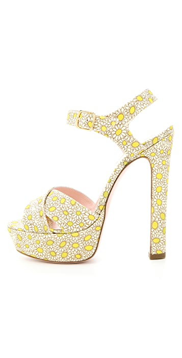 RED Valentino Daisy Platform Sandals