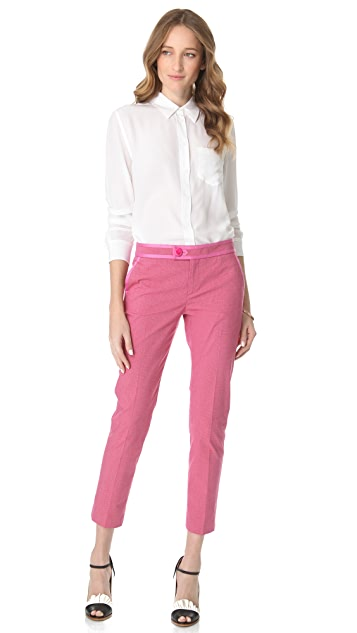 RED Valentino Stretch Microcheck Pants