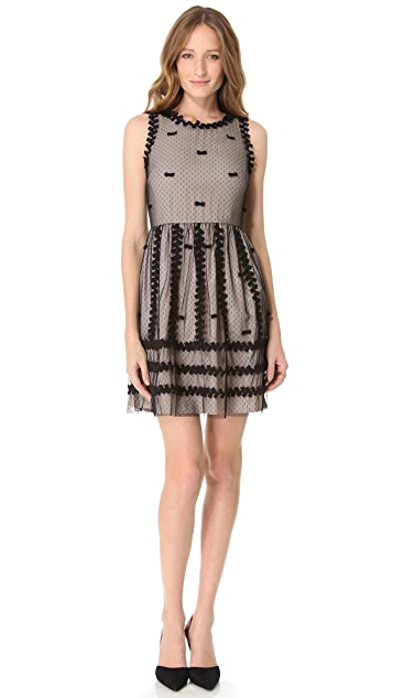 RED Valentino Ribbon and Bows Dress