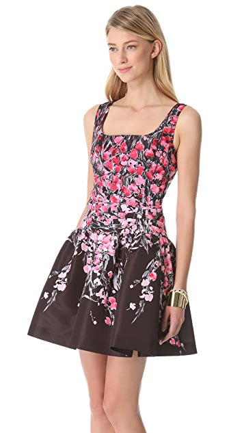 RED Valentino Lily Drop Waist Dress
