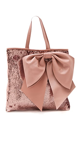 RED Valentino Paillettes Bow Tote