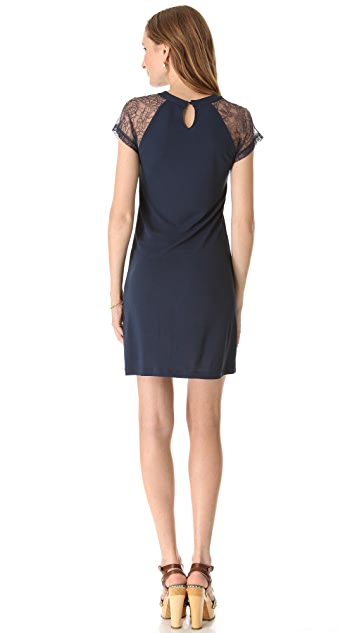 RED Valentino Jersey Dress with Lace