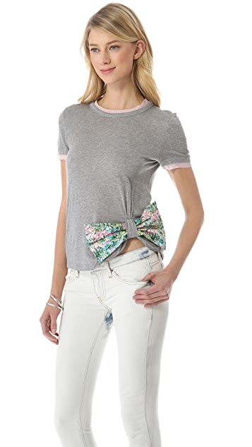 RED Valentino Printed Bow Tee