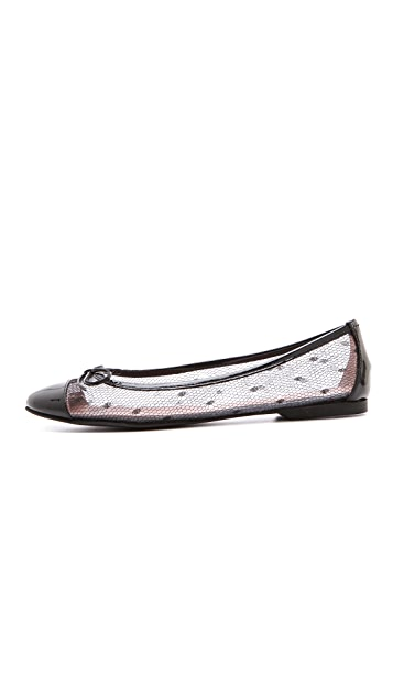RED Valentino Cap Toe Bow Flats