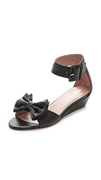 RED Valentino Ankle Strap Bow Sandals