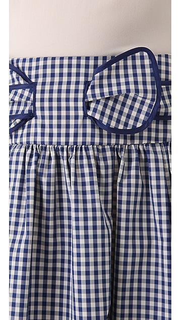 RED Valentino Taffeta Gingham Skirt