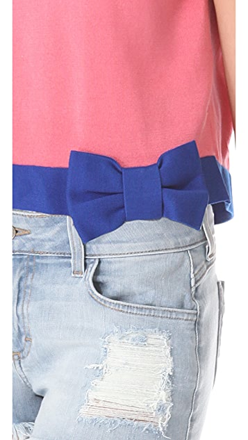 RED Valentino Cropped Bow Sweatshirt