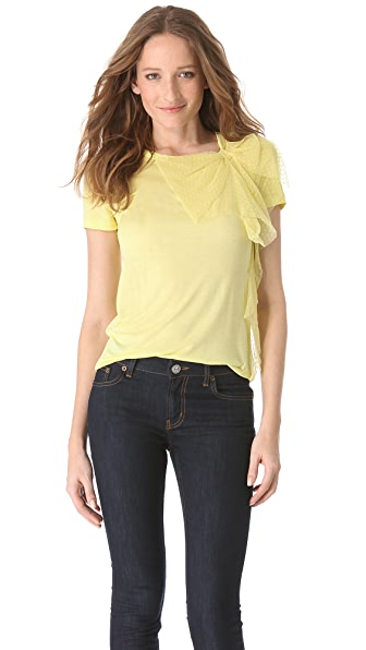 RED Valentino Point D'Esprit Bow Tee