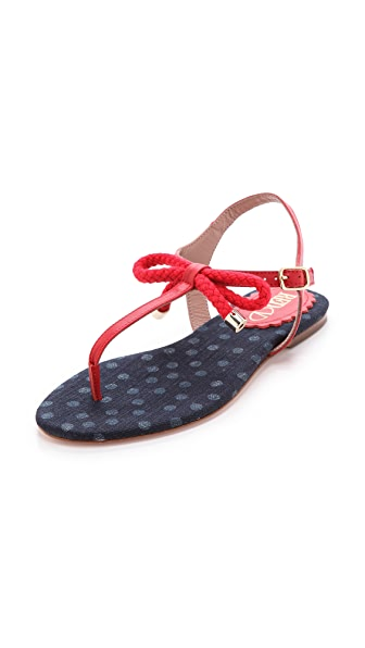 RED Valentino Nautical Flat Sandals