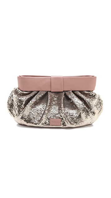 RED Valentino Sequin Oversized Clutch