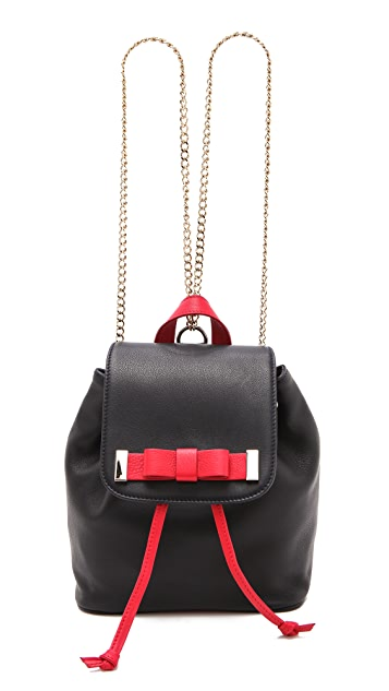 RED Valentino Leather Backpack