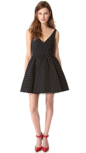RED Valentino Flower Lance V Neck Dress