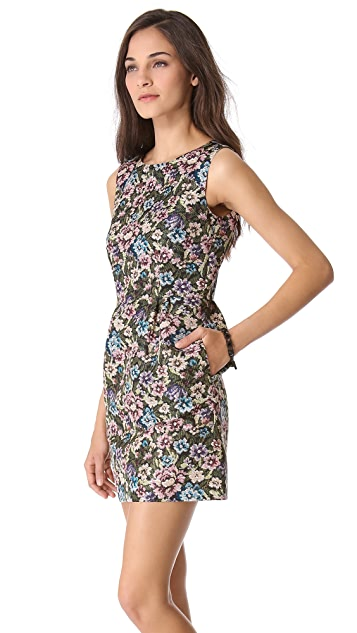 RED Valentino Gobelin Print Dress