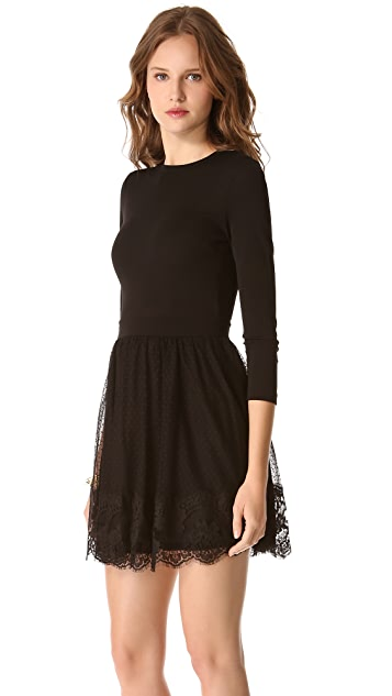 RED Valentino Point d'Esprit & Lace Dress