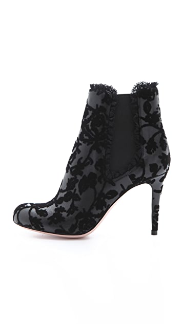 RED Valentino Velvet Flocked Booties