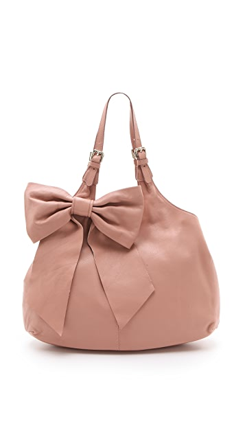 RED Valentino Leather Bow Hobo